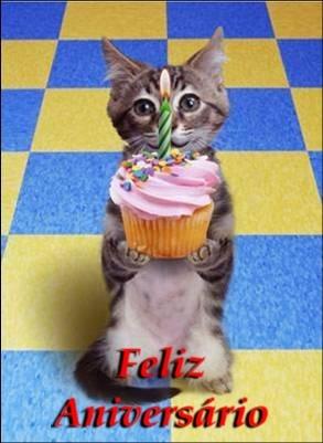 Recado Facebook Feliz Aniversário – Cachorrinho