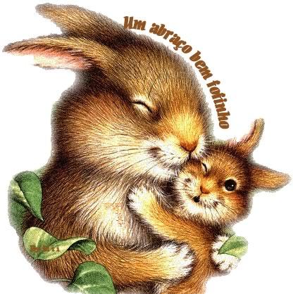 Recado Facebook Abraço – Coelhinho fofinho