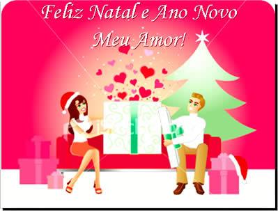 Recado Facebook Feliz Natal e Ano Novo, meu amor