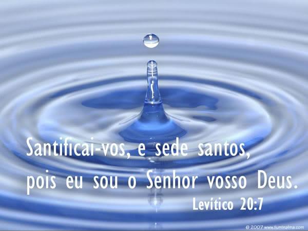 Recado Facebook Levítico 20:7