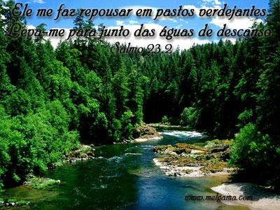 Recado Facebook Salmos 23: 2