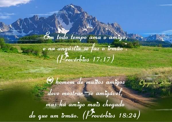 Recado Facebook Provérbios 17: 17