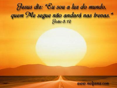 Recado Facebook João 8: 12