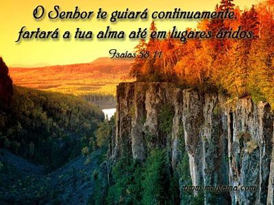 Recado Facebook Isaias 58: 11