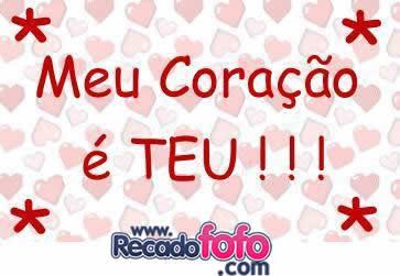 Recado Facebook Meu coração é teu!!!