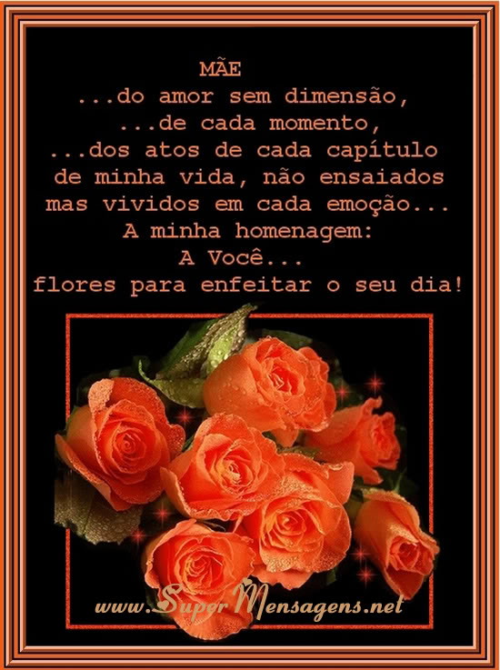 Recado Facebook Mãe! …do amor sem dimensão…