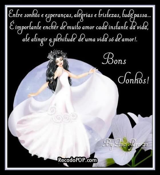 Recado Facebook Bons sonhos