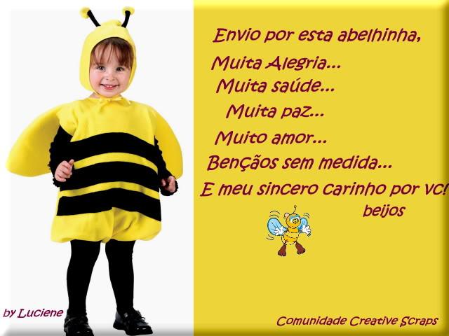 Recado Facebook Envio por esta abelhinha