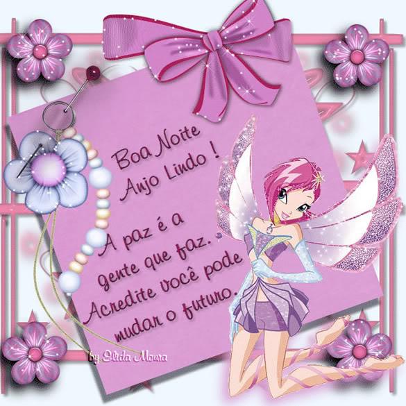 Recado Facebook Boa noite anjo lindo