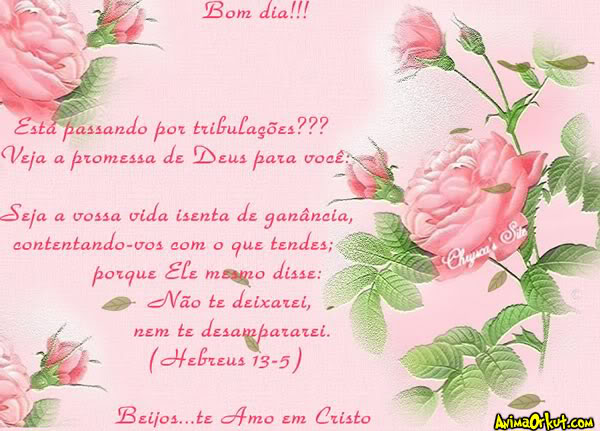 Bom Dia Te Amo Em Cristo