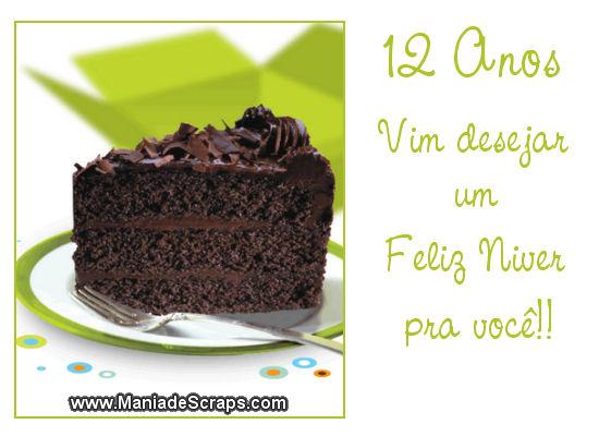 Recado Facebook 12 Anos Feliz Niver!