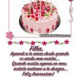 Recado Facebook Aniversário da Filha