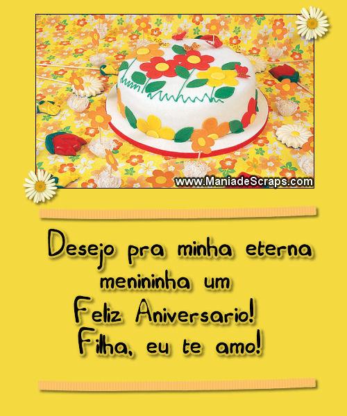 Recado Facebook Feliz Aniversário Filha, Te Amo