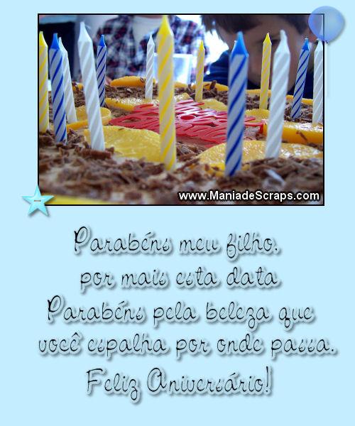 Recado Facebook Parabéns Meu Filho