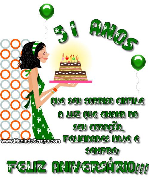 Recado Facebook 51 Anos Felicidades Sempre!