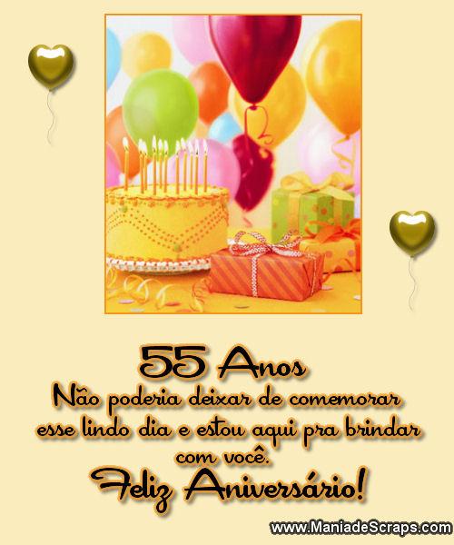 Recado Facebook 55 Anos Feliz Aniversário