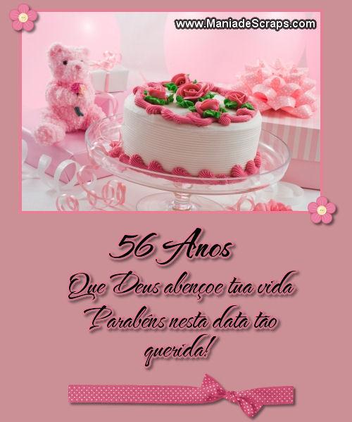 Recado Facebook 56 Anos Parabéns Nesta Data Querida!
