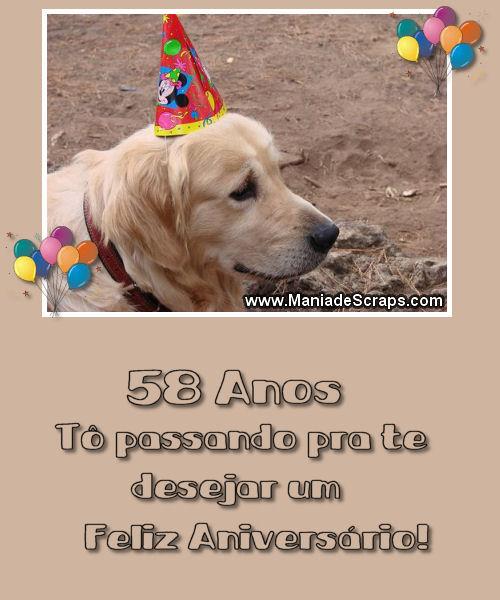Recado Facebook 58 Anos – Um Feliz Aniversário