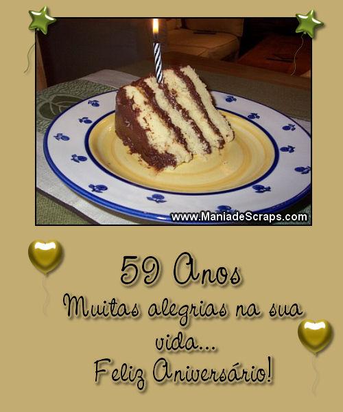 Recado Facebook 59 Anos Feliz Aniversário