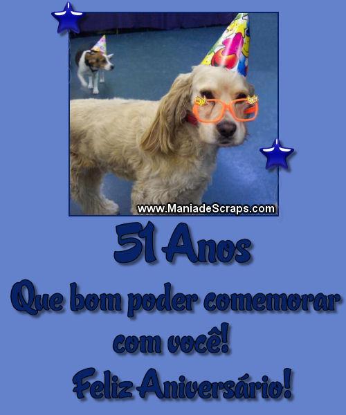 Recado Facebook Feliz Aniversário 51 Anos