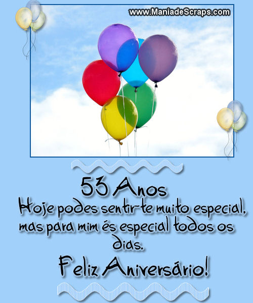 Recado Facebook Feliz Aniversário 53 Anos