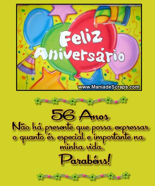 Recado Facebook Feliz Aniversário 56 Anos