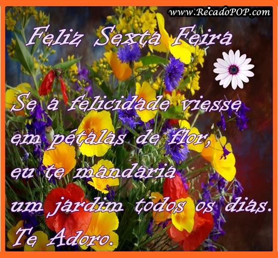 Recado Facebook Flores Feliz Sexta-feira