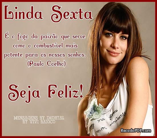 Recado Facebook Linda Sexta – Seja Feliz
