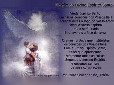 Recado Facebook Oração ao Espírito Santo