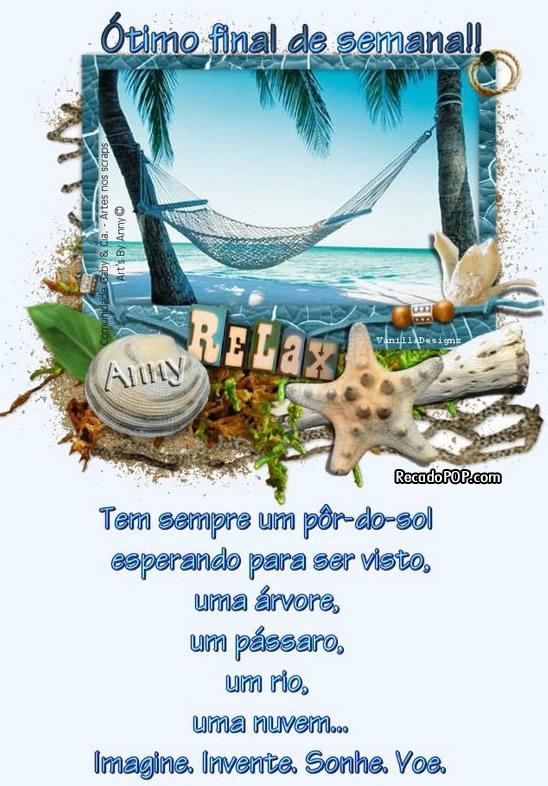 Recado Facebook Ótimo Final de Semana Praia