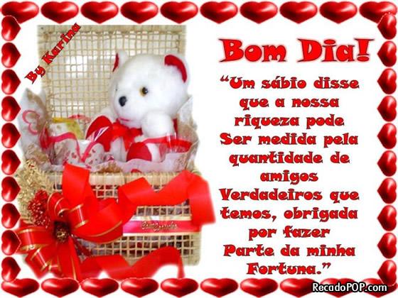 Recado Facebook Bom Dia Amigos Verdadeiros
