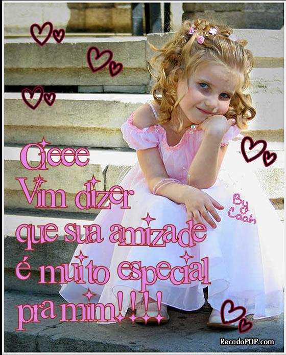 Recado Facebook Sua Amizade é Especial pra Mim