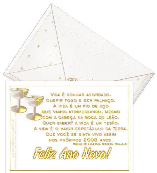 Recado Facebook Carta Feliz Ano Novo
