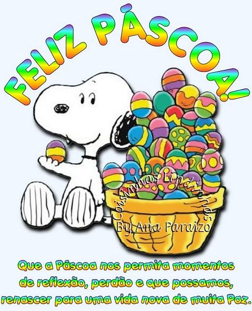 Recado Facebook Feliz Páscoa Snoop