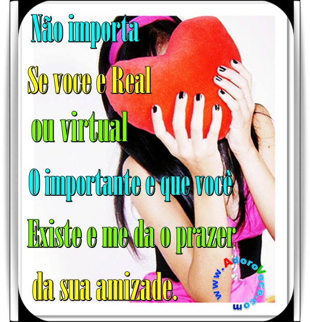 Recado Facebook Amigo real ou virtual