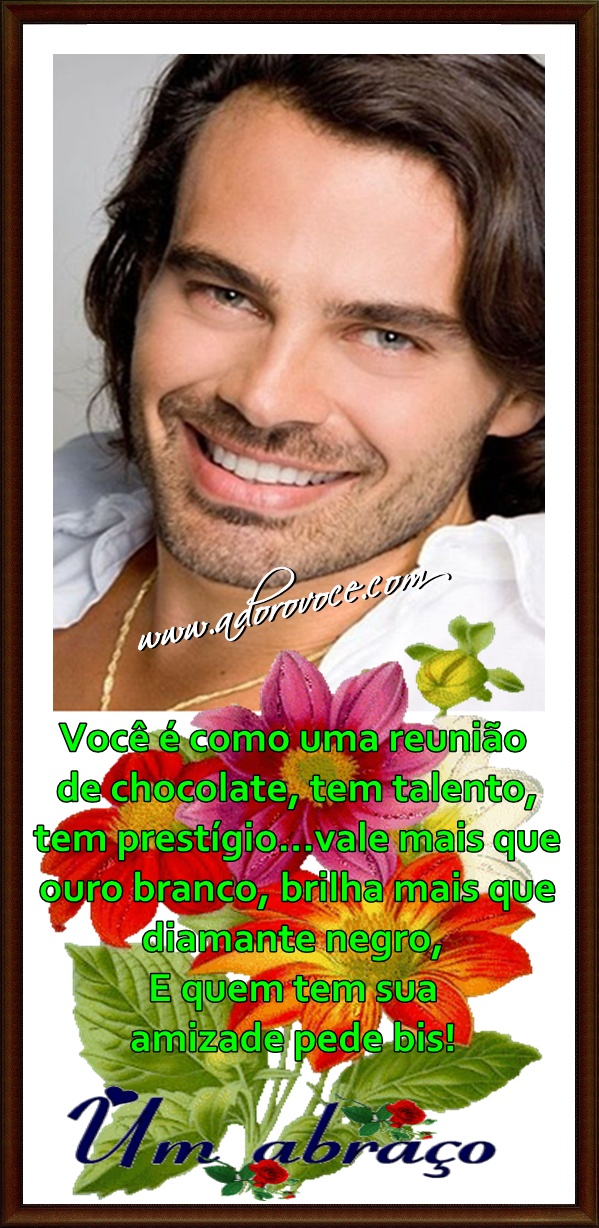 Recado Facebook Amizade chocolate