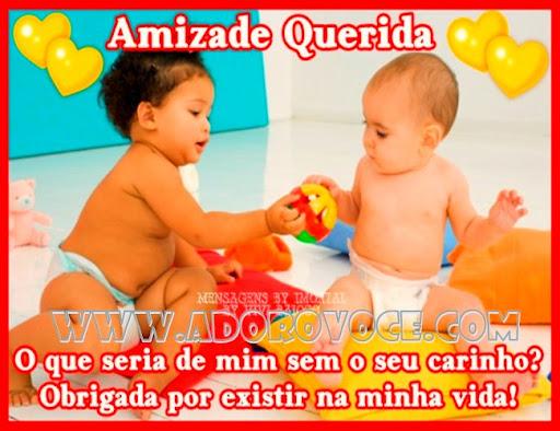 Recado Facebook Amizade querida bebês