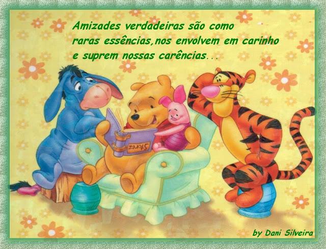 Recado Facebook Amizades verdadeiras Pooh