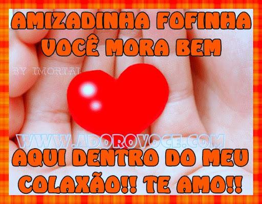 Recado Facebook Amizadinha fofinha