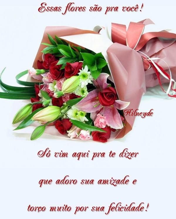 Recado Facebook Flores para você