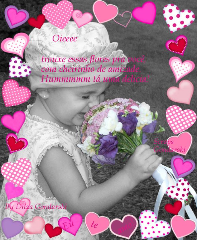 Recado Facebook Oie trouxe flores