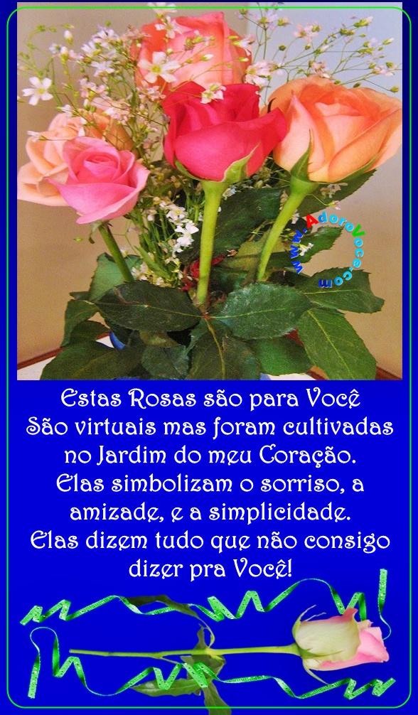 Recado Facebook Rosas para você