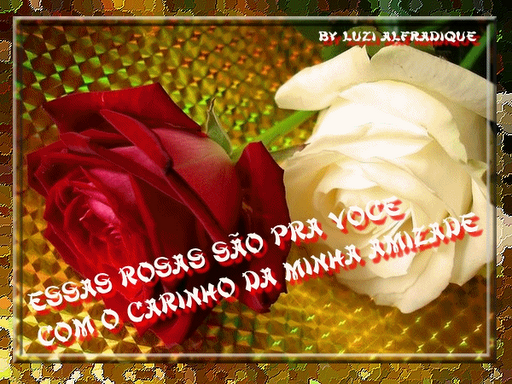 Recado Facebook Rosas pra você