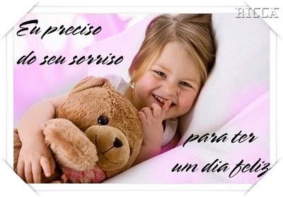 Recado Facebook Preciso do seu sorriso!