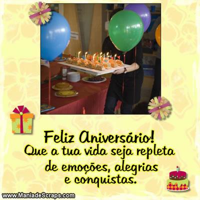 Recado Facebook Desejos pra o seu aniversário