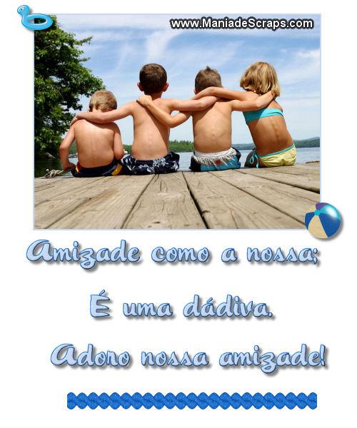 Recado Facebook Nossa amizade é uma dádiva!