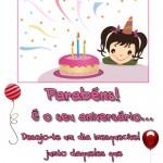 Recado Facebook Parabéns, é seu aniversário!