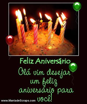 Recado Facebook Vim desejar feliz aniversário!