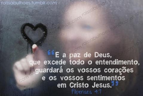 Recado Facebook A paz de Deus guarda os nossos corações