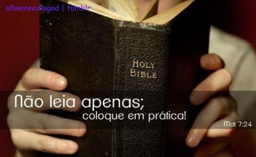 Recado Facebook Coloque a Bíblia em prática!